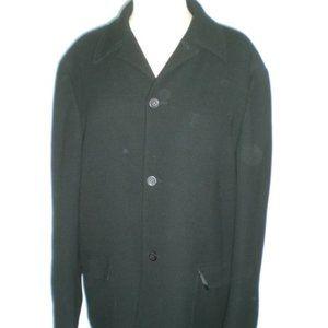 Gianni Versace versus black wool jacket L